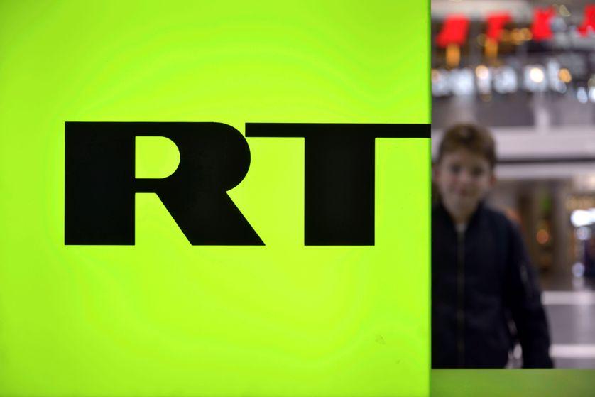 Le logo de Russia Today la chaine russe qui émet désormais en français