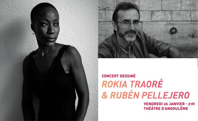 concert dessiné Rokia Traoré et Rubén Pellejero