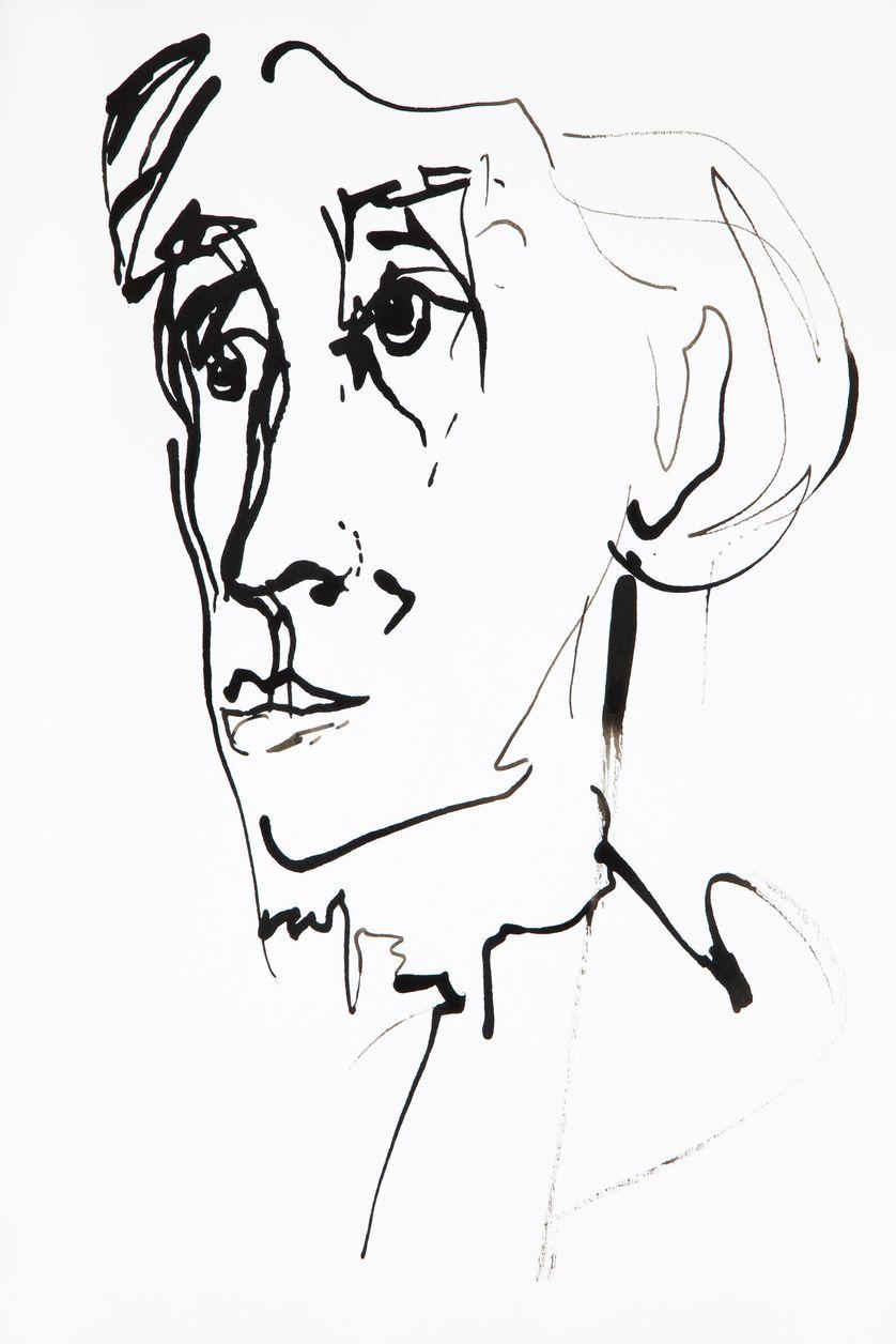 Portrait de Virginia Woolf (1882-1941), femme de lettres anglaise - dessin de Ewa KLOS