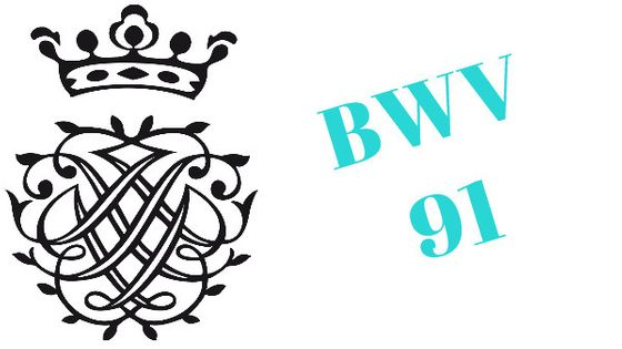 Monogramme de Bach - BWV 91