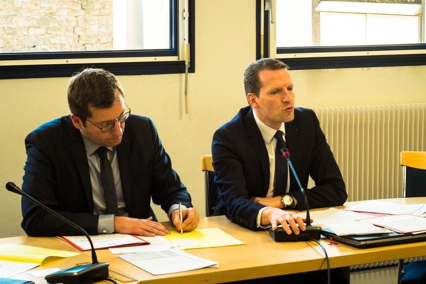 Alain Chrétien, maire de Vesoul et Emmanuel Dupic, procureur de la république - Radio France
