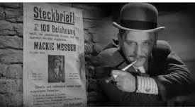 """Rudolf Forster, dans le rôle de """"Mack the Knife"""" de l'Opéra de Quat'Sous, film réalisé par G.W. Pabst à l'Opéra de Prague  (1931)"""