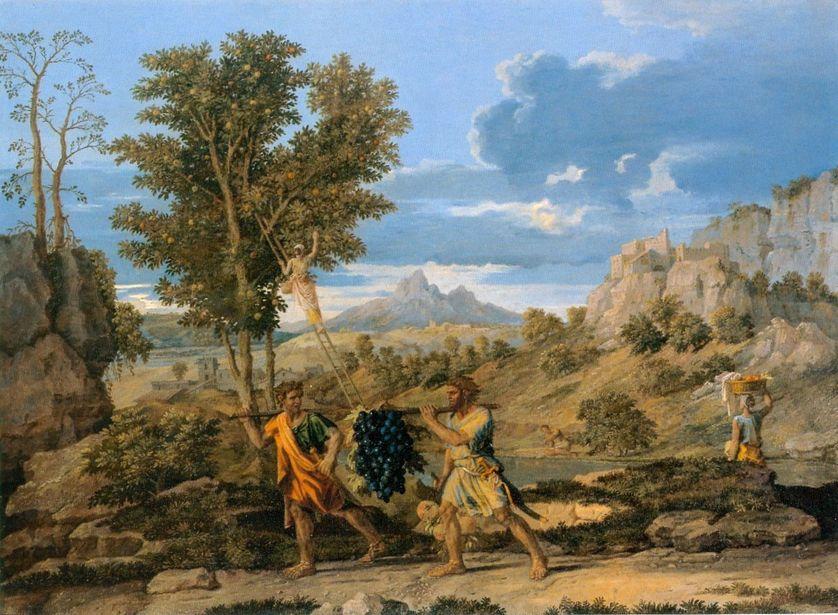 Nicolas Poussin, L'automne, ou les raisins rapportés de la Terre Promise. 1660-1664