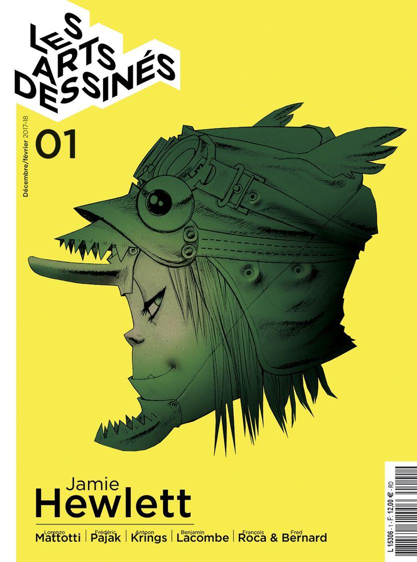 """La couverture du 1er numéro du Mook """"Les Arts Dessinées""""."""