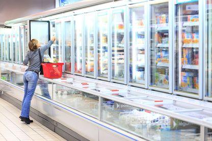armoires réfrigérées de supermarché