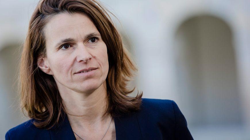 Aurélie Flippetti pendant la campagne présidentielle en mars 2017