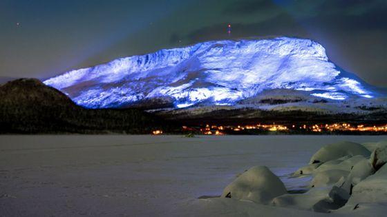 Projet artistique Luminous Saana  de l'artiste Kari Kola dans le cadre du centenaire de l'indépendance de la Finlande