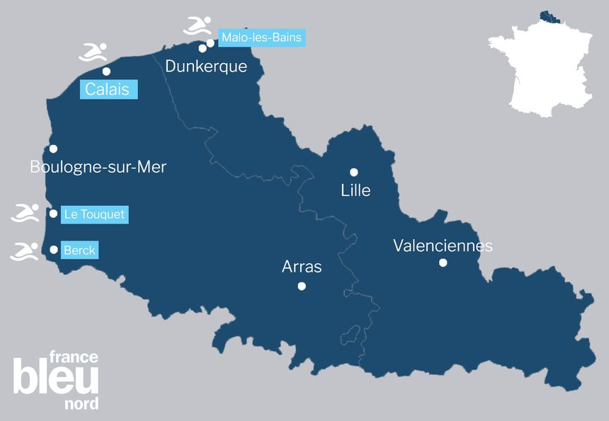 Les bains du Nouvel an dans le Nord et le Pas-de-Calais