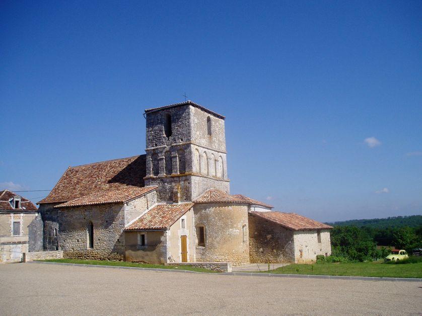 L'Eglise du village de Hautefaye