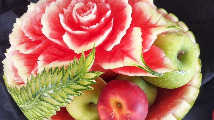 Fruits sculptés par Pascal Cano