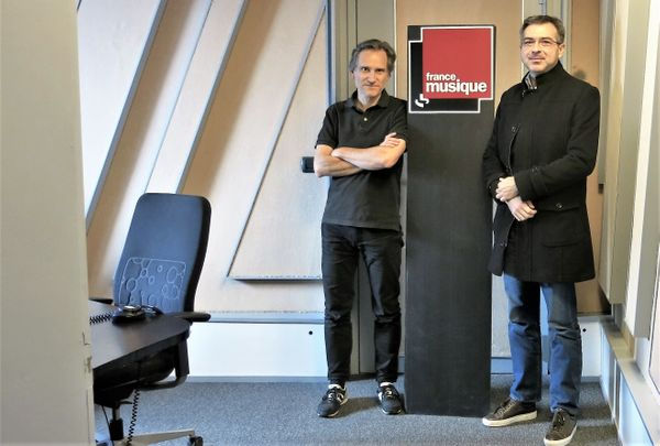 France Musique, studio 152... Philippe Venturini & Jean-Jacques Groleau