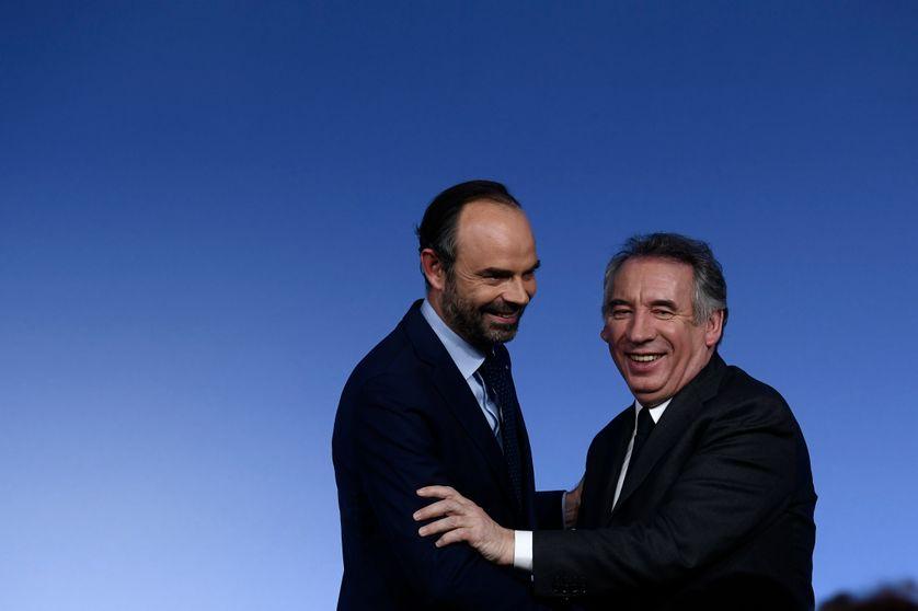 Edouard Philippe et François Bayrou lors du congrès du MoDem