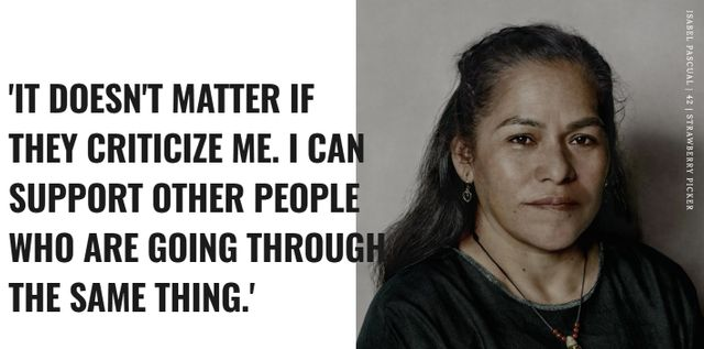 La travailleuse agricole Isabel Pascal explique par exemple dans les pages du journal qu'elle peut aujourd'hui soutenir ceux qui ont traversé la même épreuve qu'elle.