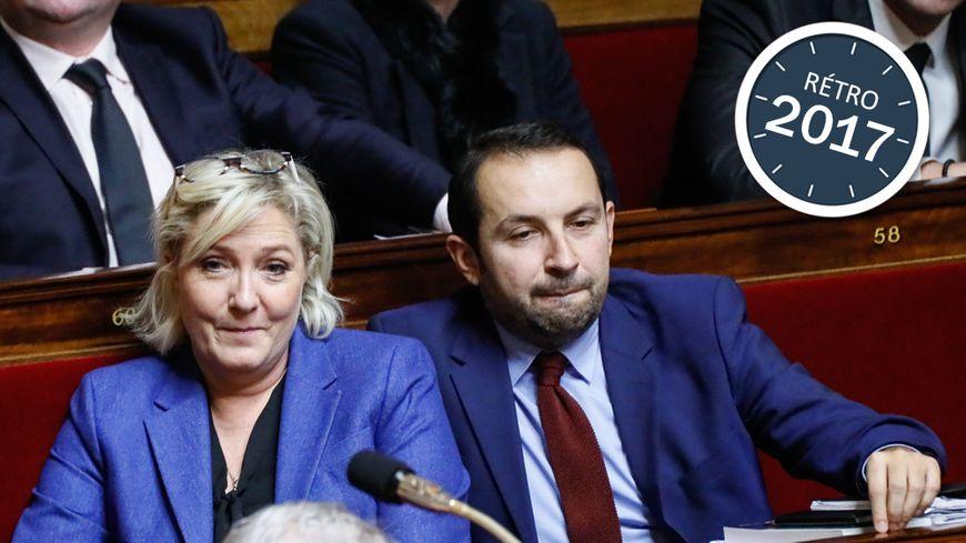 Marine Le Pen et Sébastien Chenu, sur les bancs de l'Assemblée Nationale