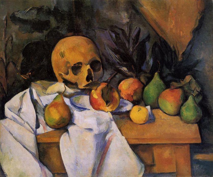 Nature morte au crâne, de Paul Cézanne