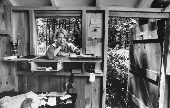 Annie Dillard dans son atelier d'écriture