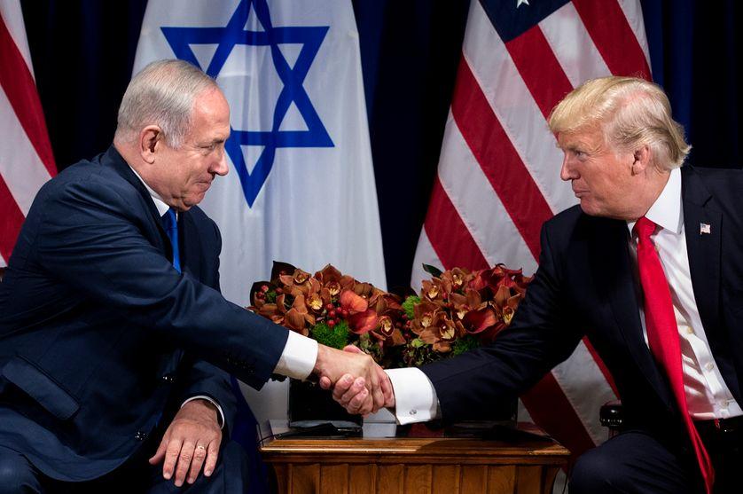 Benjamin Netanyahu et Donald Trump, le 18 septembre 2017, à la 72ème assemblée générale des Nations Unies.