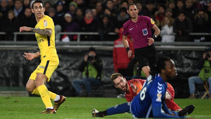 Huitième de finale de la Coupe de la Ligue à Strasbourg, le 13 décembre 2017
