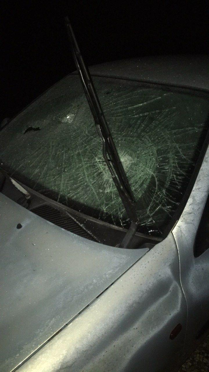 La voiture de l'un des jeunes participants à la soirée, retrouvée dégradée.