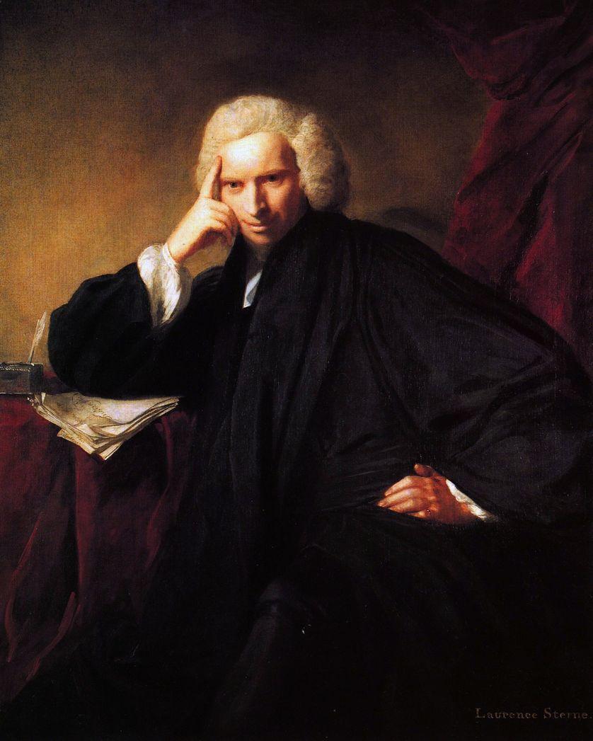 Laurence Sterne en 1760, portrait exposé à la National Portrait Gallery, Londres