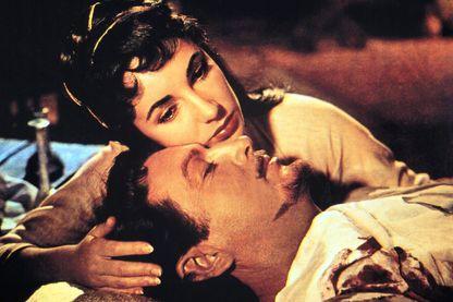 """Elizabeth Taylor, Robert Taylor dans """"Ivanhoé"""" porté à l'écran en 1952 par Richard Thorpe"""