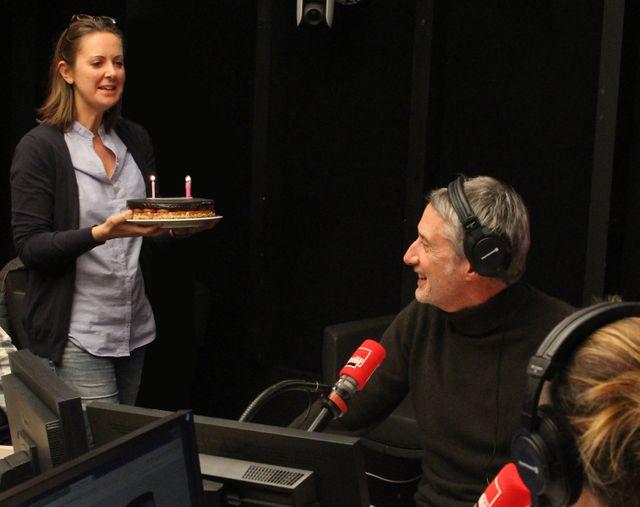 Le gâteau apporté par Charline Vanhoenacker