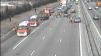 La collision entre 5 véhicules s'est produite ce jeudi peu avant 15h à hauteur de Valence-sud