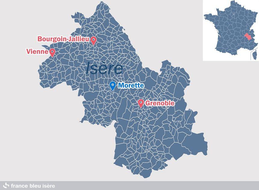 Morette, petite commune d'à peine 400 habitants au cœur de l'Isère.