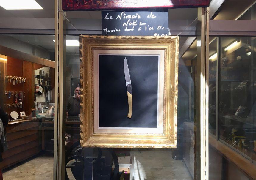 Pour Noël, Jérome Domingo propose un couteau doré à l'or fin