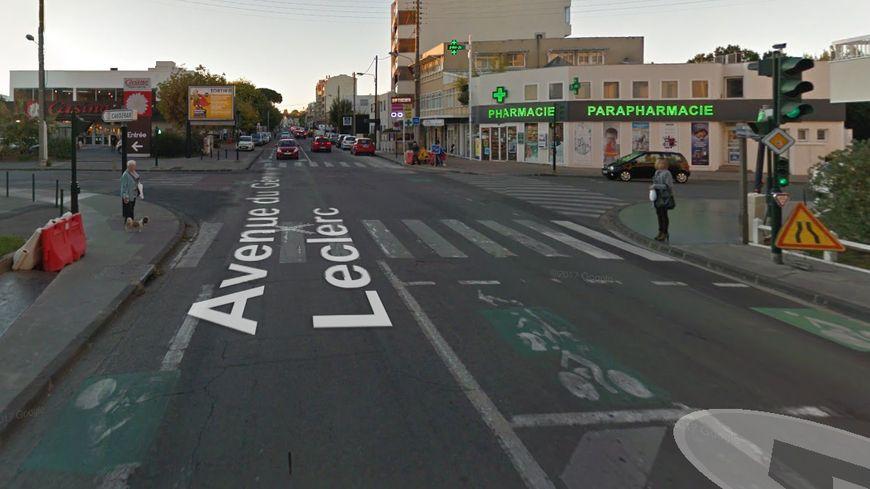 Le lieu de l'accident qui s'est produit jeudi soir.