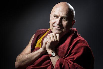 Le moine bouddhiste et écrivain Matthieu Ricard à Paris le 31 janvier 2017.