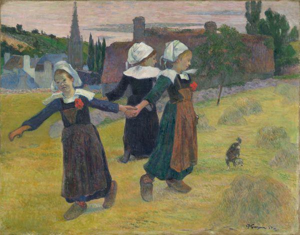 La ronde des petites bretonnes, Paul Gauguin (1848-1903), 1888, huile sur toile ; 73 x 92,7 cm
