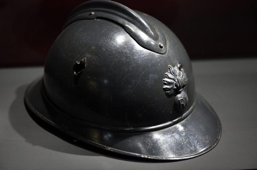 Casque d'un soldat français, de la première guerre mondiale