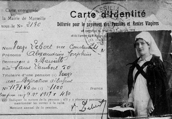 Joséphine Lebert infirmière à l'Hôtel-Dieu de Marseille pendant la guerre 14-18.