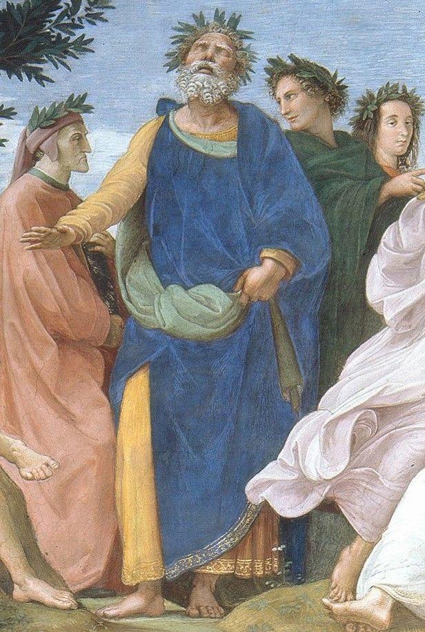 Détail du Parnasse de Raphaël