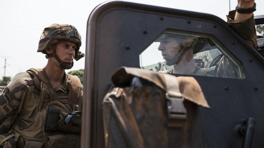 Les soldats du Régiment d'infanterie chars de marine de Poitiers uniquement déployés, cette année, sur le territoire national dans le cadre de la lutte contre le terrorisme