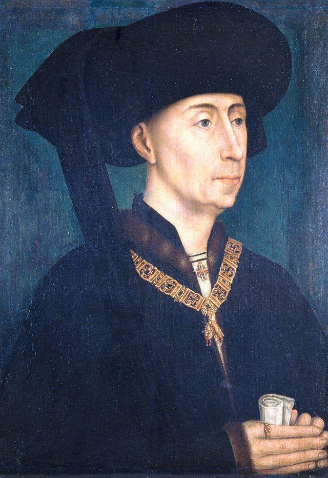 Philippe de Bon, duc de Bourgogne, toujours de noir vêtu