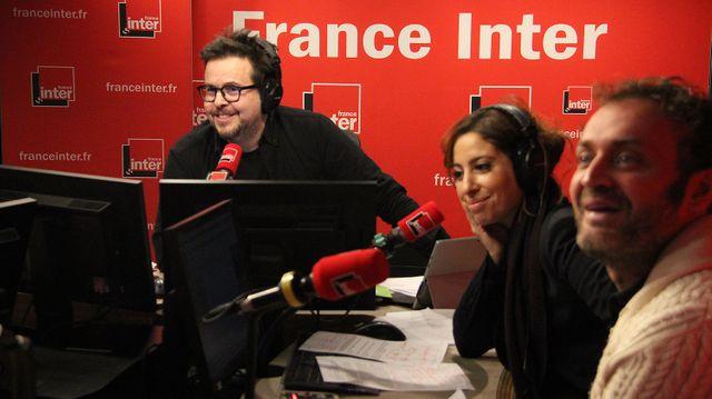Nicolas Demorand, Léa Salamé et Augustin Trapenard
