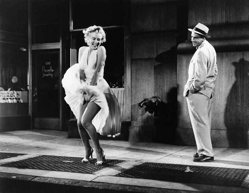 """Marilyn MOnroe dans """"7 ans de réflexion"""" de Billy Wilder, 1955"""