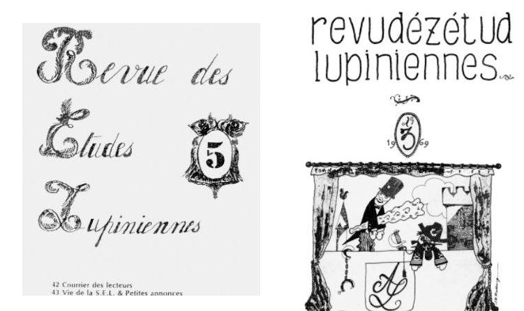 """montage de deux couvertures de """"La Revue des Etudes Lupiniennes"""""""