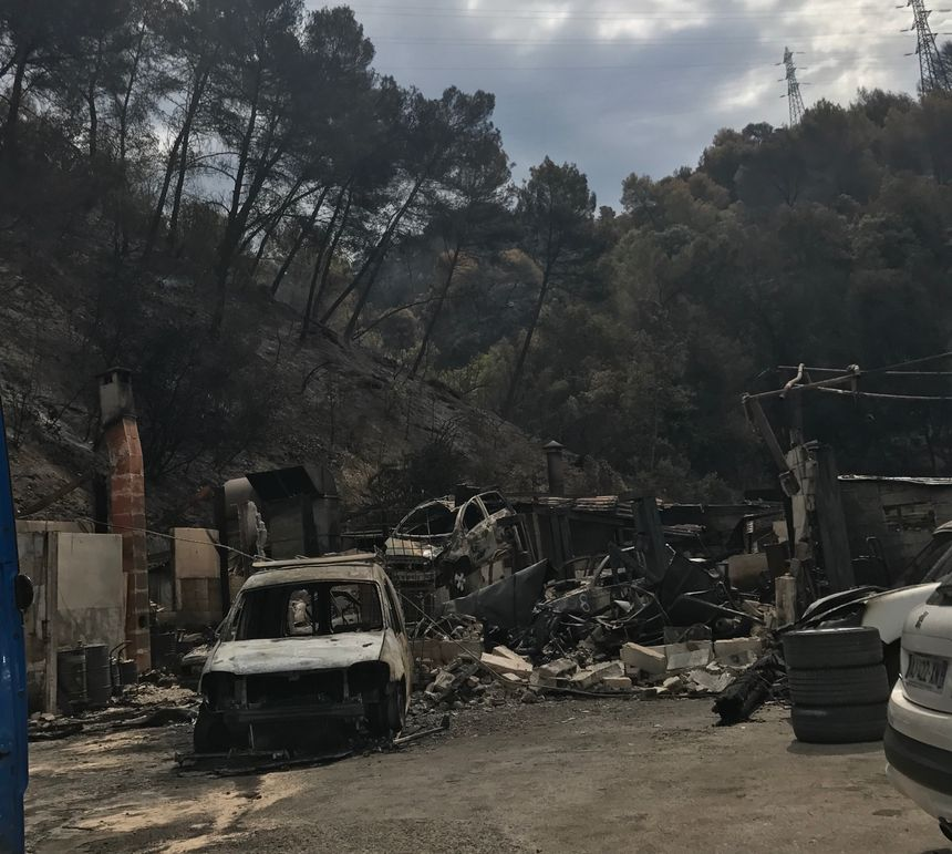 incendie du 7 juillet 2017 Castagniers