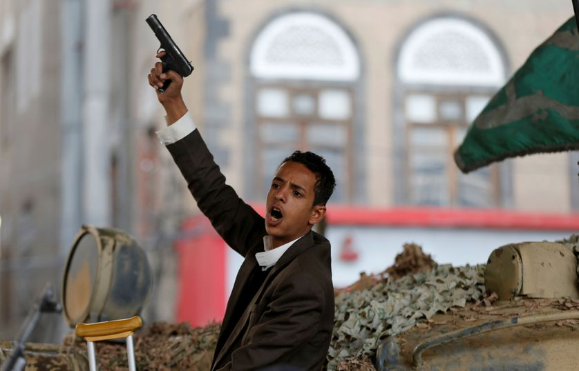 Tirs de joie dans la capitale, à l'annonce de l'assassinat du président Ali Abdullah Saleh