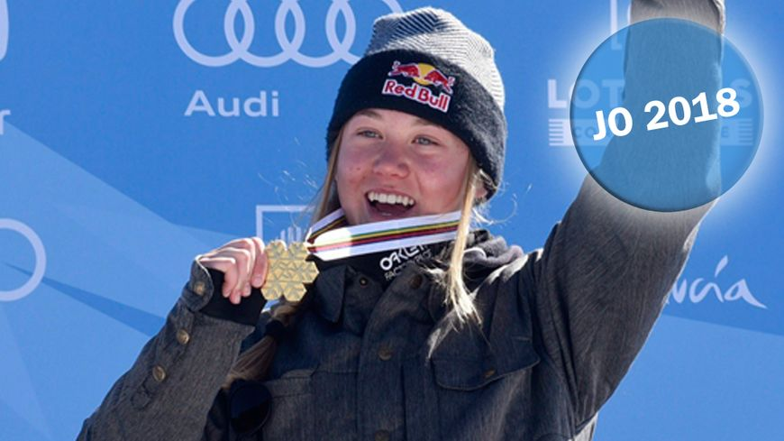 Tess Ledeux, médaille d'or en final slopestyle en Sierra Nevada en mars 2017