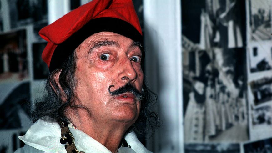 Portrait de Salvador Dalí en 1978.