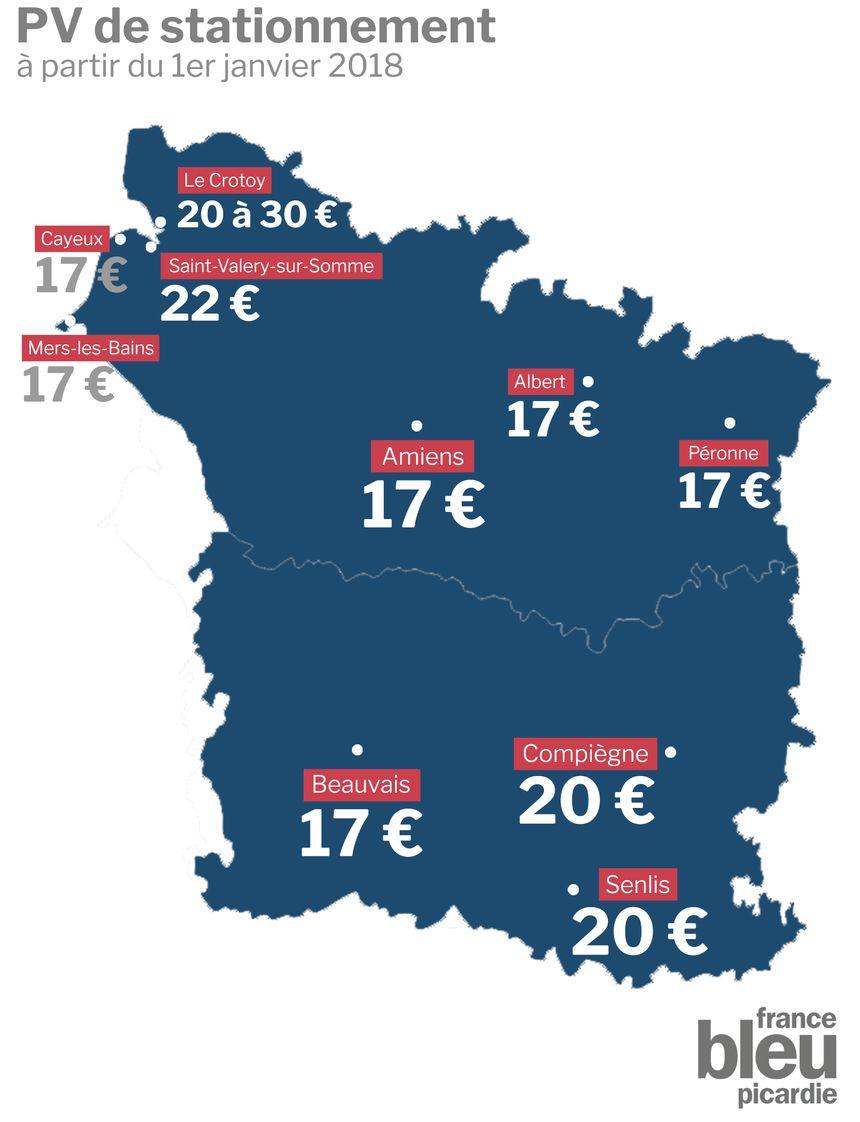 Voici les prix des forfaits post-stationnement en vigueur à partir du 1er janvier 2018