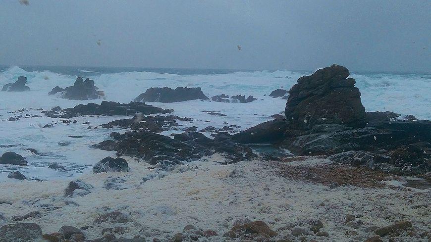 Une photo de la côte nord d'Ouessant envoyée par une auditrice sur notre page facebook