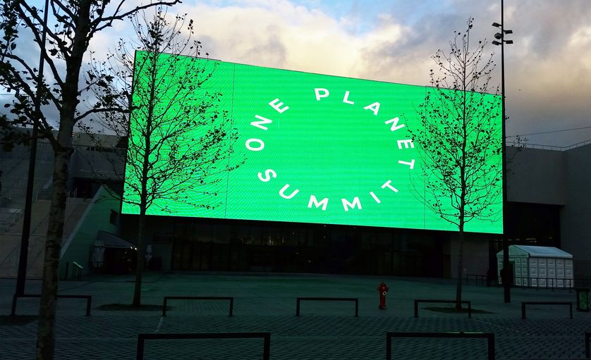 Ce sommet pour le climat d'une journée est co-organisé par la France, les Nations unies et la Banque mondiale