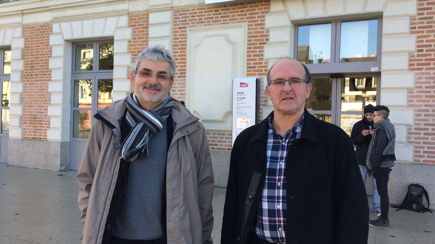 François Gérard et Jean-Luc Le Baronprésident le comité de défense et de promotion de la desserte ferroviaire de Redon (CODEF)