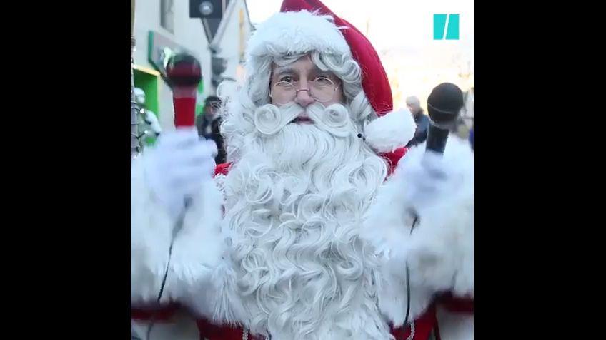 Les Pères Noël ont de la répartie