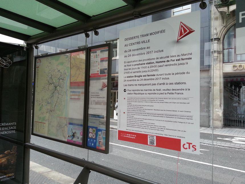 Dimanche soir, le tram s'arrêtera à nouveau aux arrêts Broglie et Homme de Fer